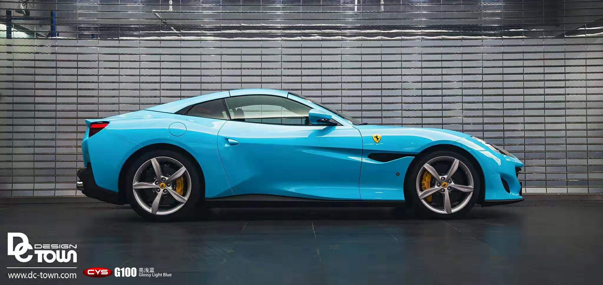 Ferrari Portofino G100 Glossy Light Blue Gallery Cys Vehicle Film Official Website Powered By Cheyishang Com
